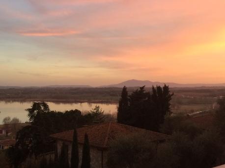 Castiglione at sunset