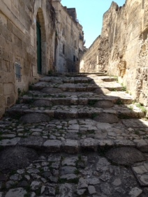 Cobbled street in Oria