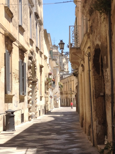 Back street of Lecce