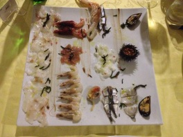 Delicious, fresh, raw seafood