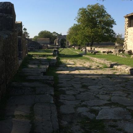 A Roman street at Saepinum