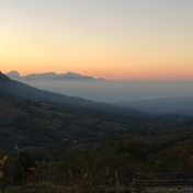 Sunset in the Appenines